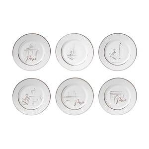 Sada 6 porcelánových dezertných tanierov Côté Table Capit