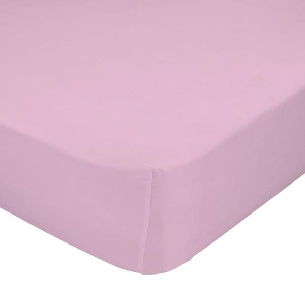 Svetloružová elastická plachta HF Living Basic, 90 x 200 cm