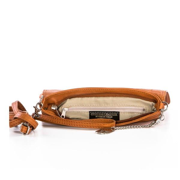 Kožená listová kabelka Souvage Cuoio