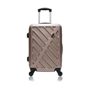 Cestovný kufor na kolieskach vo farbe ružového zlata Hero Lock, 61l