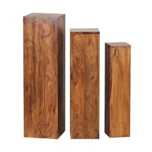 Sada 3 postavcov z masívneho palisandrového dreva Skyport Octavia