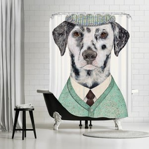 Kúpeľňový záves Dalmatian, 180x180 cm