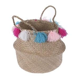 Pletený košík  InArt Multi Pom Pom