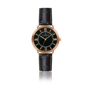 Dámske hodinky s čiernym remienkom z pravej kože Frederic Graff Zoe
