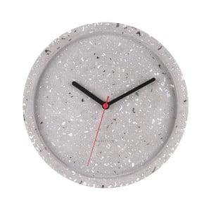 Sivé nástenné hodiny Karlsson Tom, Ø26cm