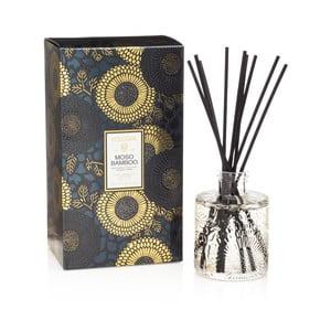 Vonný difuzér s vôňou bambusu, čierneho pižma a cyprusov Voluspa, intenzita vône 4-6 mesiacov