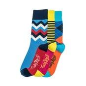 Tri páry ponožiek Funky Steps Bady, univerzálna veľkosť