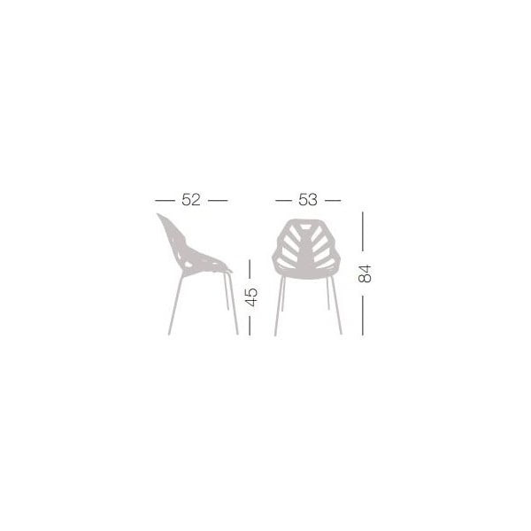 Set 2 čiernych stoličiek Ninja, chrómové nohy