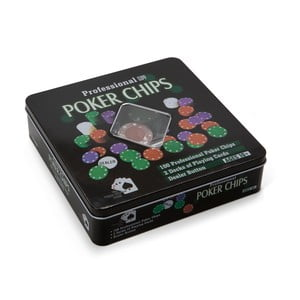 Sada na poker v plechovke Tri-Coastal Design Gamble