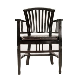 Stolička z mahagónu s podrúčkami SOB Poirot
