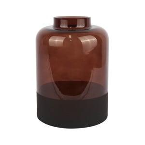 Hnedá sklenená váza PT LIVING Majestic, výška 18 cm