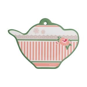 Keramická podložka pod horúce hrnce v tvare čajovej kanvičky Brandan Peony