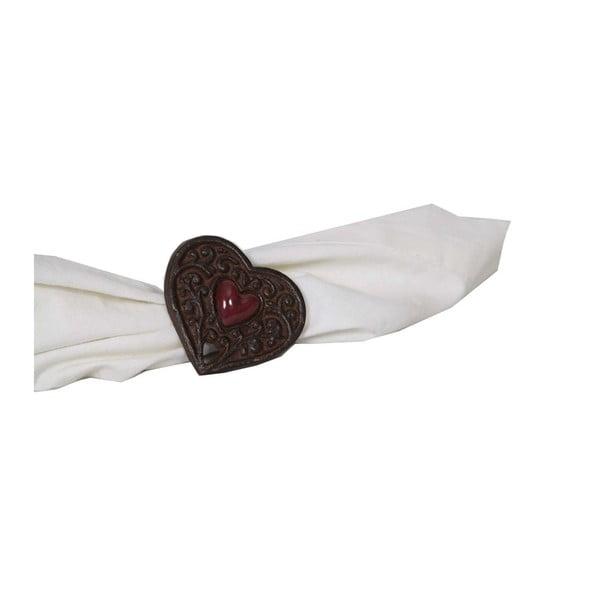 Krúžok na obrúsok Antic Line Chalet Heart