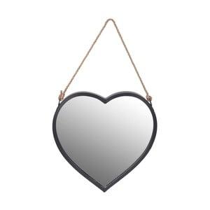 Závesné nástenné zrkadlo v tvare srdca InArt