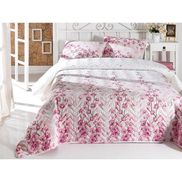 Sada prešívanej prikrývky na posteľ a vankúša Single 111, 160x220 cm