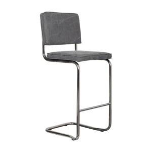 Sivá barová židle Zuiver Ridge Kink Vintage