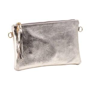 Kožená listová kabelka / kabelka z pravej kože v zlatej farbe Andrea Cardone Petite