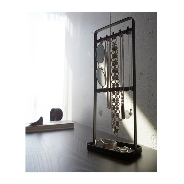 Čierny stojan na šperky YAMAZAKI Tower