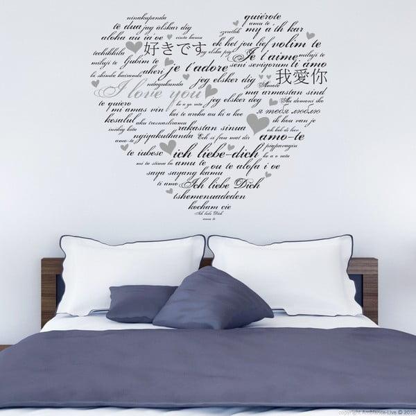 Samolepka na stenu  I love you, 90x60 cm