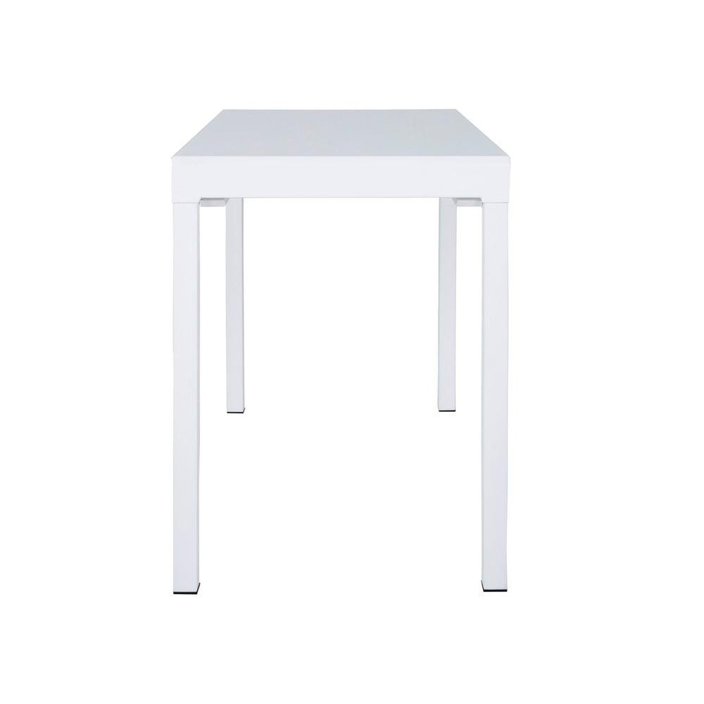 Biely jedálenský rozkladací stôl Canett Lissabon, dĺžka 110 cm