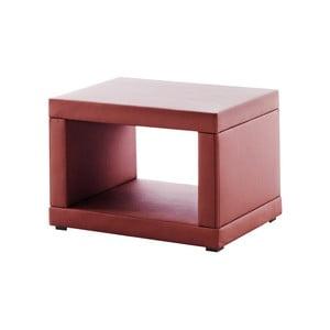 Červený koženkový nočný stolík Novative