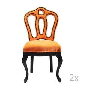 Sada 2 stoličiek so zamatovým poťahom  Kare Design Royal