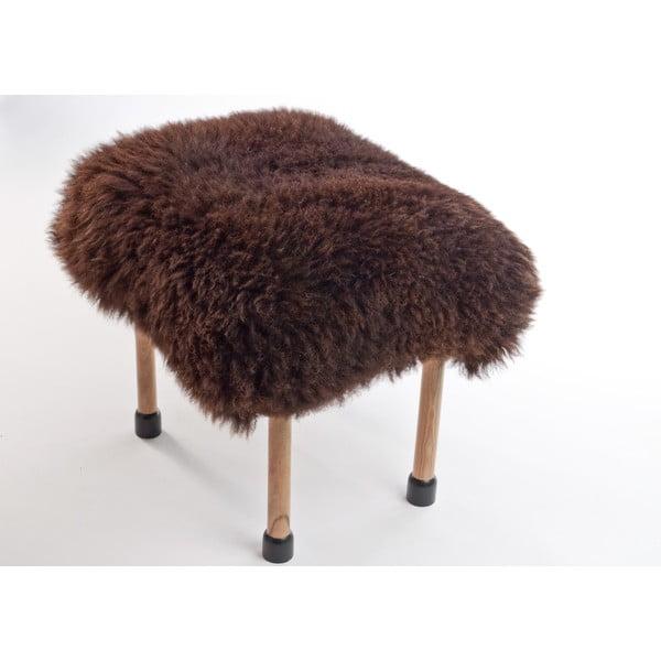 Stolička z ovčej kože Nerys Chocolate