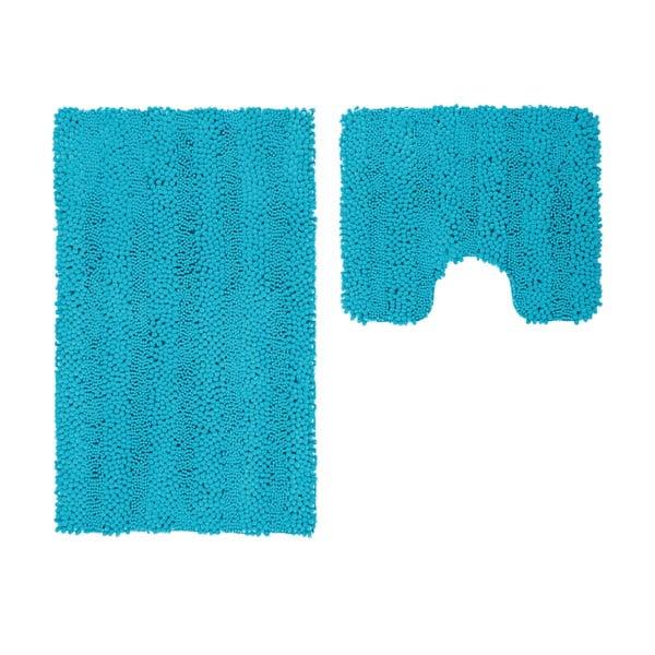 Sada 2 kúpeľňových predložiek s výrezom Surface Turquoise