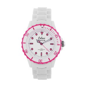 Hodinky Colori 40 White/Pink