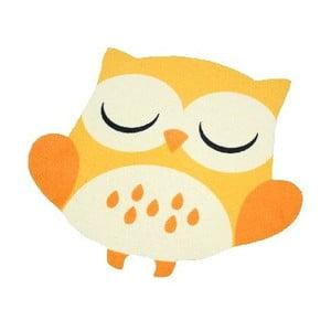Koberec Owls - žlto-oranžová sova, 66x66 cm