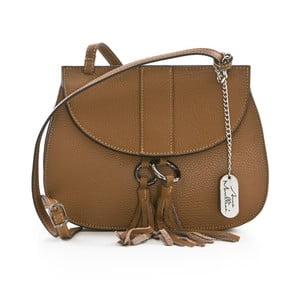 Hnedá kožená kabelka Anna Morellini Vesna