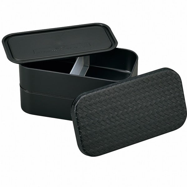Čierny desiatový box Joli Bento  B&W, 1 l