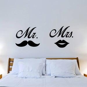 Samolepka na stenu Mr. Mrs