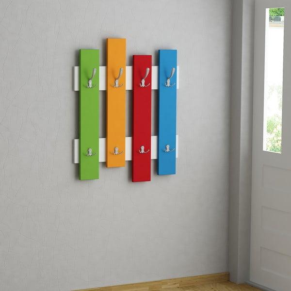 Nástenný vešiak Wave Colores
