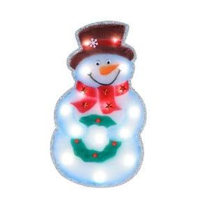 Svietiaca LED dekorácia Snowman Silhouette