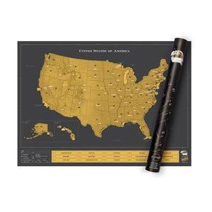 Zoškrabávacia mapa Luckies of London USA Deluxe Edition