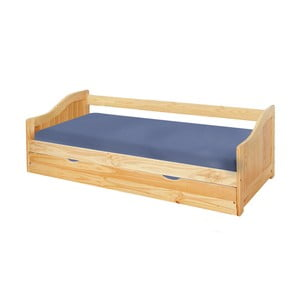 Drevená jednolôžková posteľ so zásuvkou 13Casa Leon, 90 x 200 cm