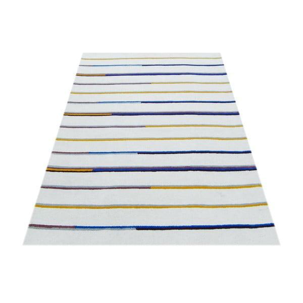 Ručne tuftovaný béžový koberec Bakero Stripe, 153 x 244 cm