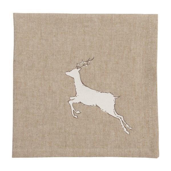 Obrúsky  Clayre & Eef Beige Deer, 6ks