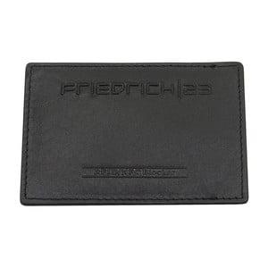 Čierne kožené puzdro na kreditné karty Friedrich Lederwaren Simple