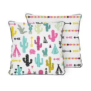 Vankúš Pillow Cactus Garden, 45x45 cm