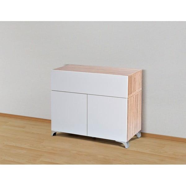 Úložná komoda Decoflex Table, biela/samba