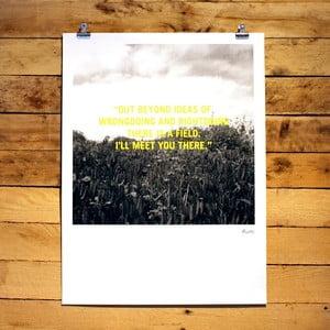 Plagát Rumi, 30x41 cm