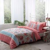 Obliečky s plachtou Pink Flowers and Sky Blue, 200x220 cm