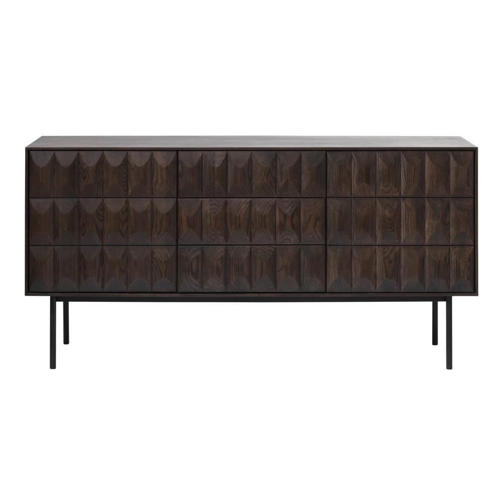 Čierna komoda Unique Furniture Latina, dĺžka 160 cm