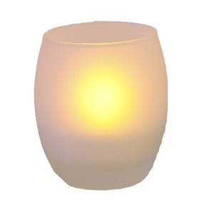 Oválny svietnik s LED sviečkou