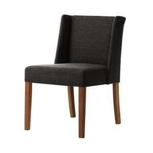 Tmavosivá stolička s tmavohnedými nohami Ted Lapidus Maison Zeste