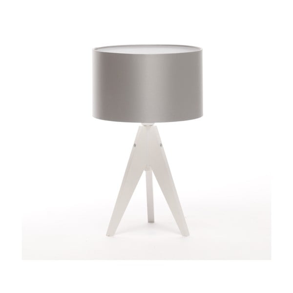 Stolná lampa Artista White/Silver, 28 cm