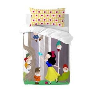 Detské bavlnené obliečky na paplón a vankúš Mr. Fox Snow White, 115×145cm