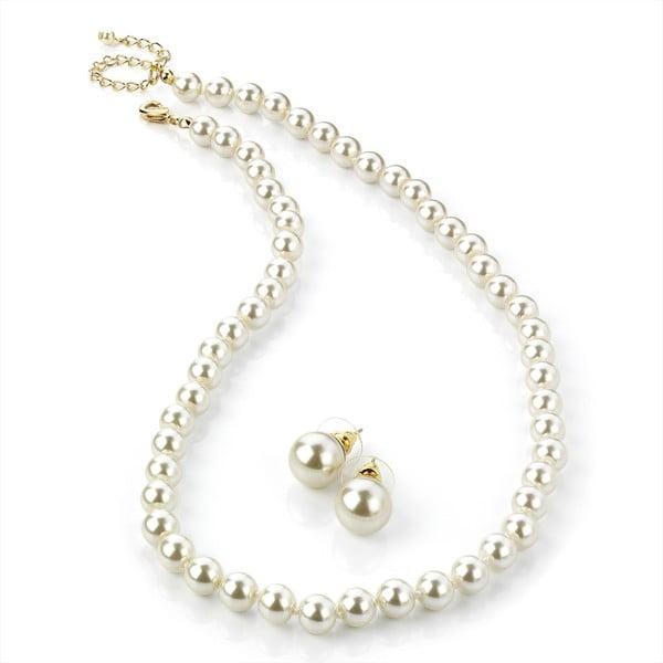 Sada náhrdelníkov a náušnic Pearl Bronze